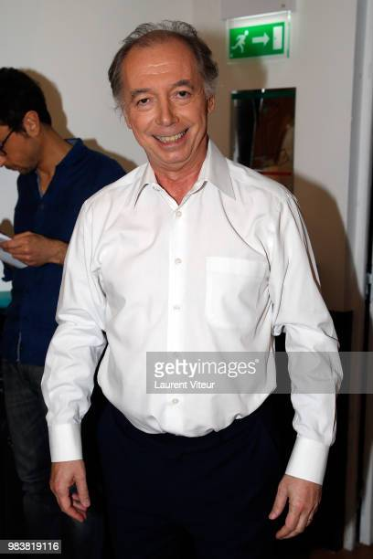Humorist Philippe Chevalier attends 'La Bataille du Rire' TV Show at Theatre de la Tour Eiffel on June 25 2018 in Paris France