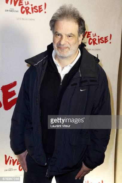 Humorist Raphael Mezrahi attends 'Vive La Crise' Paris Premiere at Cinema Max Linder on May 2 2017 in Paris France