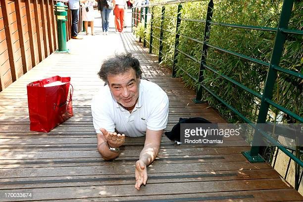 Humorist Raphael Mezrahi sighting at Roland Garros Tennis French Open 2013 Day 12 on June 6 2013 in Paris France
