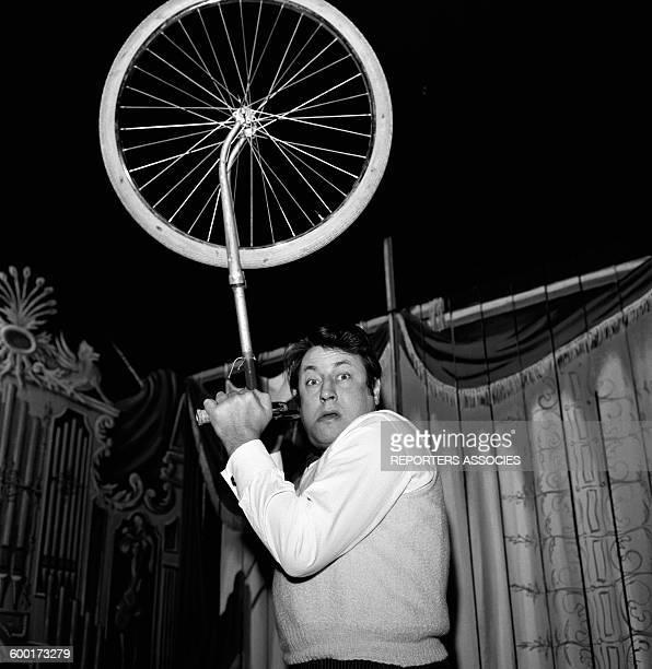 Humorist Raymond Devos On Stage In Paris, France, Circa 1960 .