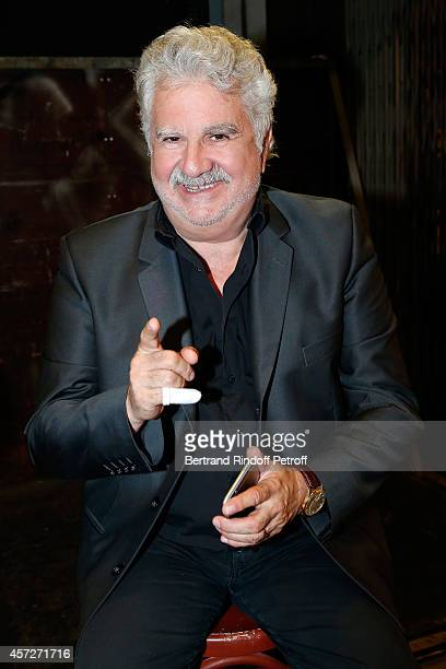Humorist Roland Magdane attends the 'Vivement Dimanche' French TV Show at Pavillon Gabriel on October 15, 2014 in Paris, France.