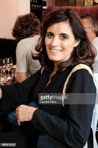 Humorist Sandrine Sarroche attends 'La Bataille du Rire' TV Show at Theatre de la Tour Eiffel on June 25 2018 in Paris France