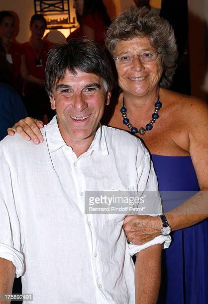 Humorist Tex and President of Ramatuelle Festival Jacqueline Franjou attend Christelle Chollet one woman show The New Show written and set stage by...
