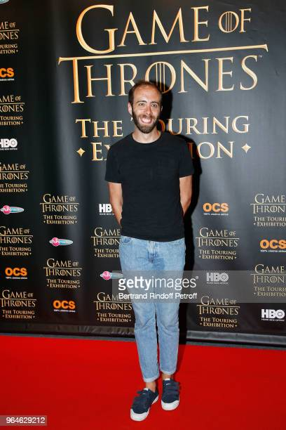 Humorist Tristan Lopin attends Game Of Thrones The Touring Hexibition at Parc des Expositions Porte de Versailles on May 31 2018 in Paris France