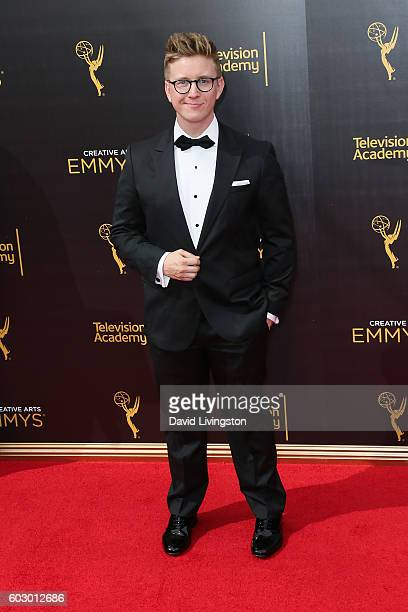 Humorist Tyler Oakley attends the 2016 Creative Arts Emmy Awards Day 2 at the Microsoft Theater on September 11, 2016 in Los Angeles, California.