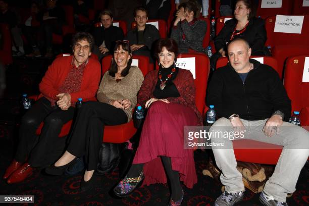 Humorists Gilles Benizio and Corinne Benizio aka Shirley et Dino Anny Duperey and Romeo Sarfati attend the tribute to Anny Duperey during the closing...