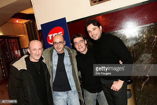 Humorists JeanFrançois Derek Patrick Bosso Manu Joucla and Bruno Salomone arrive at the launching of the new TV channels 'M6 Music Rock' and 'M6...