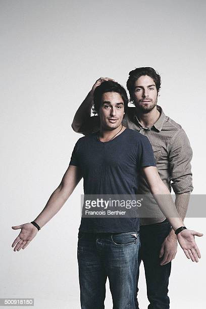 Humorists Kevin Levy and Tom Leeb are photographed for Self Assignment on March 11 2015 in Paris France