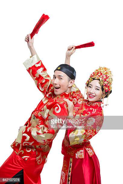 humorous bride and groom - phoenix marie photos et images de collection