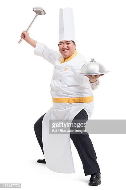 Humorous Chubby cook
