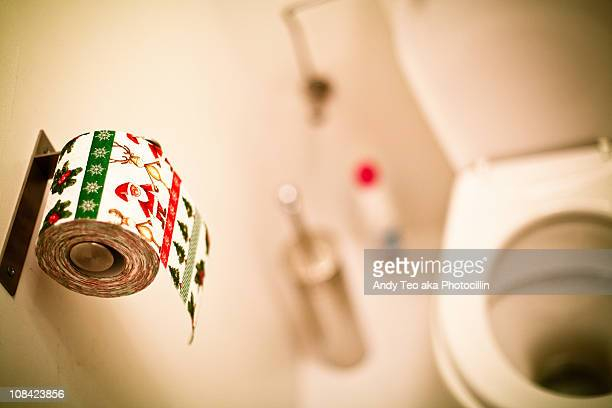a humorous look at christmas preparations - funny toilet paper stock pictures, royalty-free photos & images