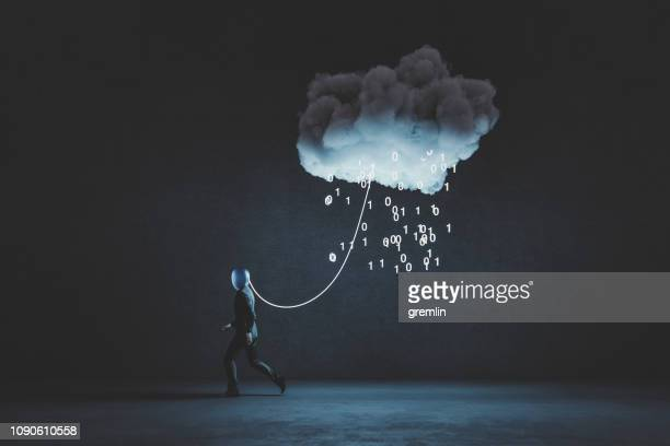 humorous mobile cloud computing conceptual image - orthodoxy stock pictures, royalty-free photos & images