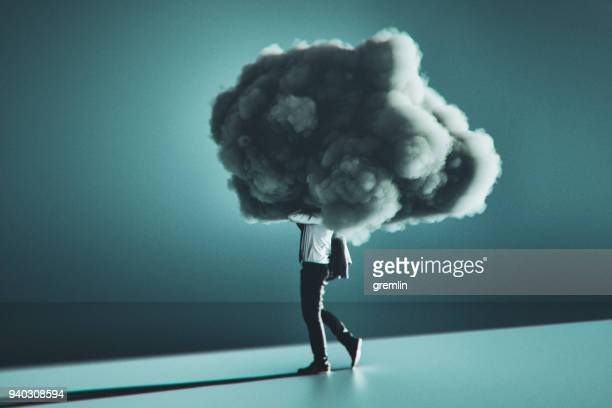 humorous mobile cloud computing conceptual image - storm cloud stock pictures, royalty-free photos & images