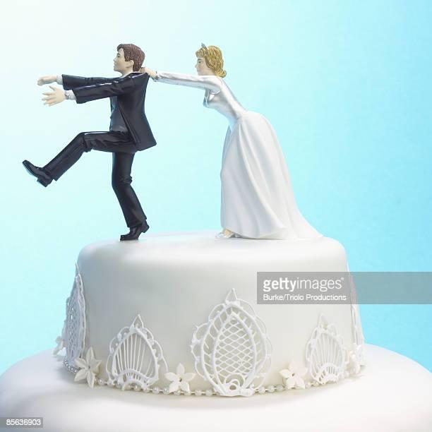 Humorous wedding cake