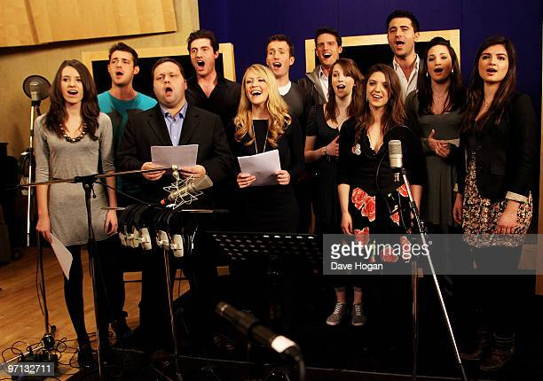Humphrey Berney Jules Knight Ollie Baines Stephen Bowman of Blake with Darius Campbell Faryl SmithPaul Potts Camilla Kerslake with Daisy Chute Laura...