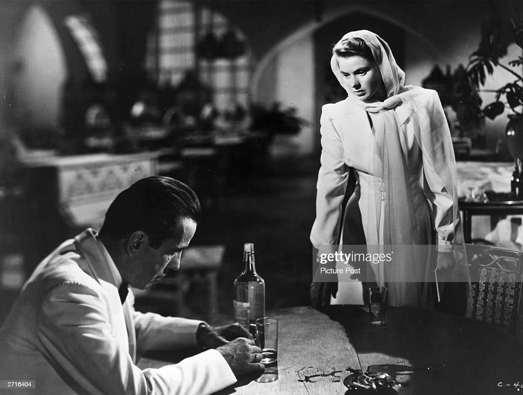 Bogart And Bergman In 'Casablanca' : News Photo