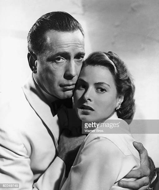 Humphrey Bogart and Ingrid Bergman star in the classic wartime romance 'Casablanca' 1942