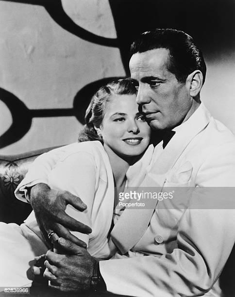 Humphrey Bogart and Ingrid Bergman star in the Warner Brothers film 'Casablanca', 1942.
