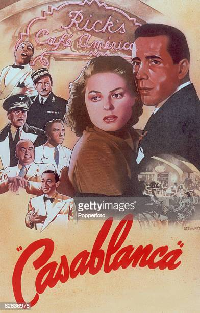 Humphrey Bogart and Ingrid Bergman star in the Warner Brothers film 'Casablanca' alongside Paul Henreid Conrad Veidt Claude Rains Peter Lorre Dooley...