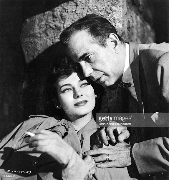 Humphrey Bogart and Marta Toren star as gun runner Harry Smith and his love interest Violette in 'Sirocco' directed by Curtis Bernhardt