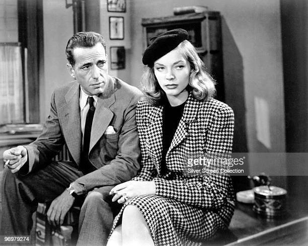 Humphrey Bogart as Philip Marlowe and Lauren Bacall as Vivian Rutledge in 'The Big Sleep' 1946