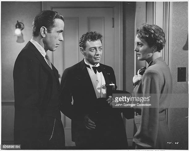 Humphrey Bogart Peter Lorre and Mary Astor in The Maltese Falcon Motion pictured released in 1941