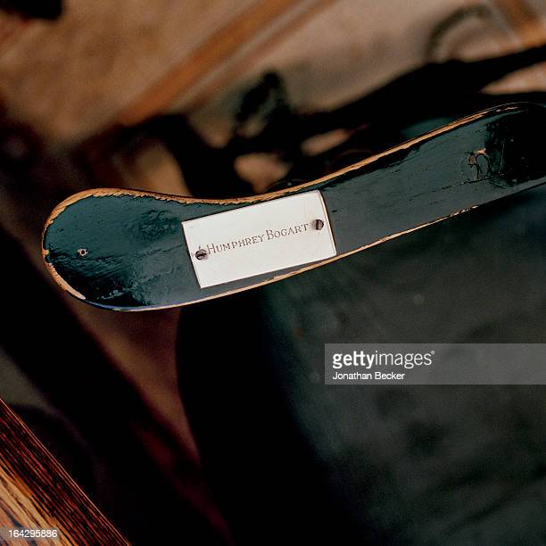 Humphrey Bogarts chair at the Coffee House is photographed for Vanity Fair Magazine on March 14 2012 in New York City PUBLISHED IMAGE