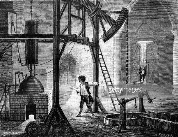 Humphrey Potter améliorant la machine à vapeur de Newcomen
