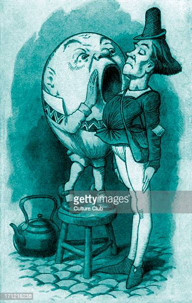 Humpty Dumpty and the Messenger from 'Through the Looking Glass and What Alice Found There' Children's book by Lewis Carroll LC English writer 27...