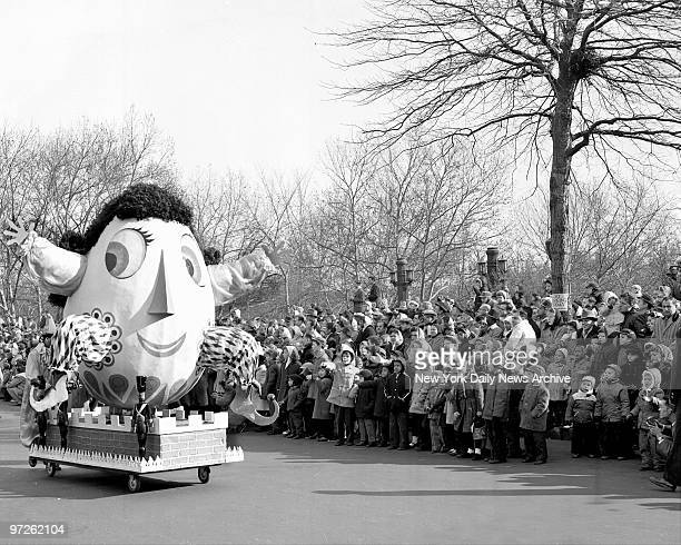 Humpty Dumpty floats in the Macy's Thanksgiving Day parade