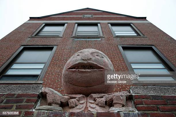 Humpty Dumpty sits on the wall at Cabot Elementary School in Newtonville Mass May 24 2016