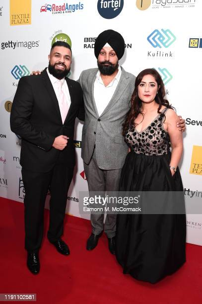 Humza Arshad Tony Shergill and guest attend the Brit Asia TV Music Awards 2019 at SSE Arena Wembley on November 30 2019 in London England