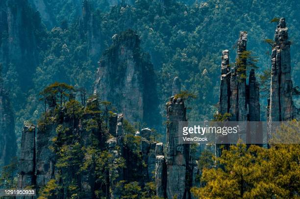 hunan zhangjiajie scenery - visual_effects stock pictures, royalty-free photos & images