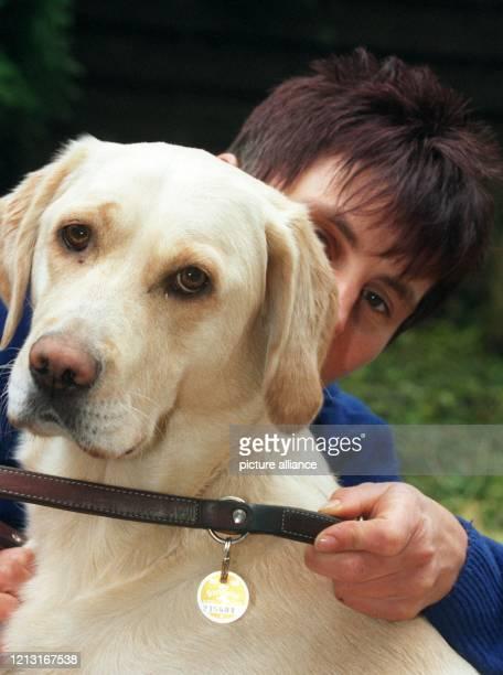Hundebesitzerin Petra Werzl legt ihrem Hund Sky am in Dortmund ein Halsband mit Steuermarke um. Immer öfter werden von Kommunen private...