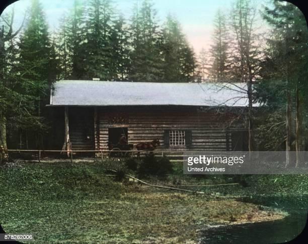 Hundinghuette hut in the forest of Linderhof castle at Ettal in Bavaria
