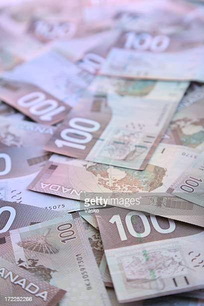 hundred dollar bills – canadian - canadian dollars stock pictures, royalty-free photos & images