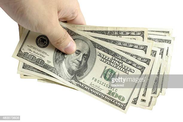 hundred dollar cash - american one hundred dollar bill stock pictures, royalty-free photos & images