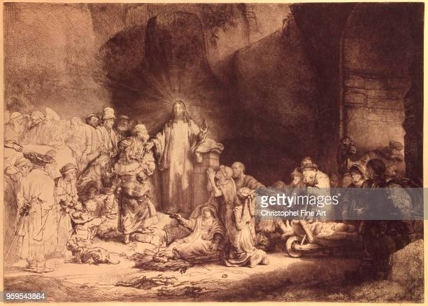 Hundred Guilder Print or Christ healing the sick 1649 Rembrandt Harmensz Louvre Museum Netherlands