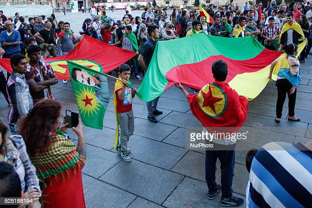 Hundred people protested on 18th September 2015 in Turin Italy against the attacks on the Kurdish people at the hands of Turkish President Recep...
