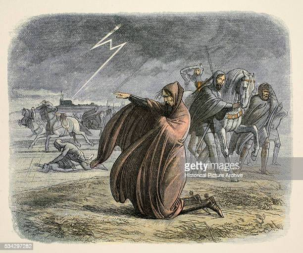 Hundred Years War After rejecting offers for peace a great thunderstorm frightened Edward III He is shown stretching his hand towards the Cathedral...