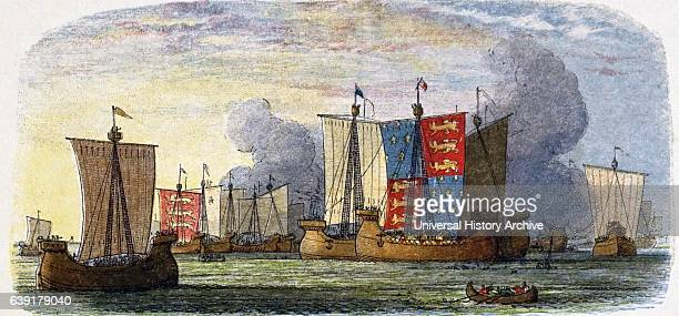 Hundred Years War between France and England 13371453 Battle of Stays 24 June 1340 naval engagement of English fleet under Edward III and combined...
