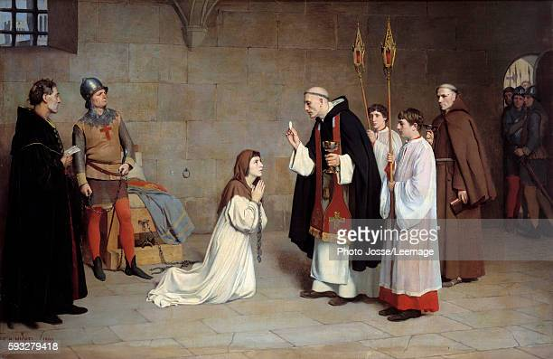 The last communion of Joan of Arc Painting by CharlesHenri Michel 1899 073 x 06 m BeauxArts Museum Rouen France