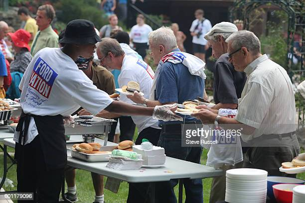 Hundreds are served burgers and hotdogs. The Ford family holds their annual barbecue, dubbed FordFest, it is the first one since the death of Rob...
