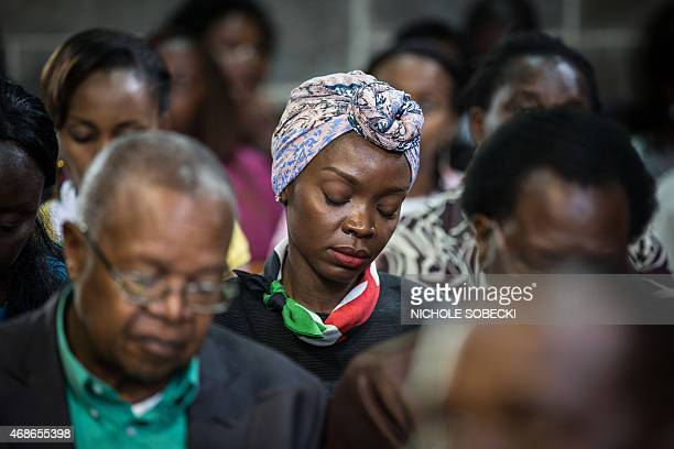 Hundreds gather for an Easter service at the All Saints' Cathedral in Nairobi on April 5 mourning the country's worst ever massacres the killing of...