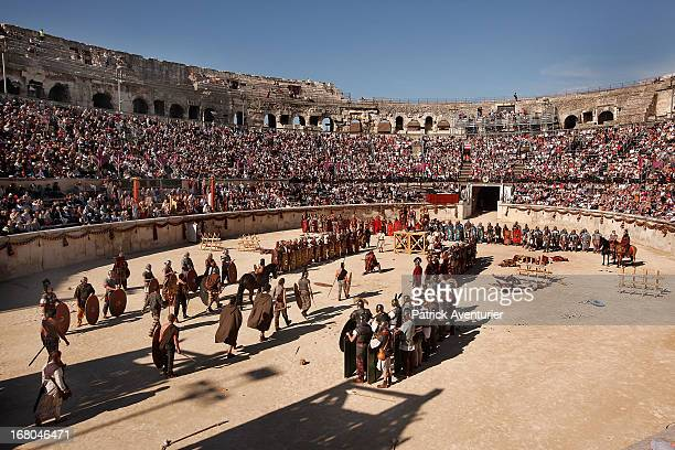 Hundreds of actors from across Europe recreate the Battle of Alesia where Julius Ceasar with Mark Antony and Roman battalions fought against Gaul...