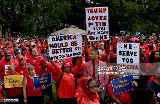 Hundreds of AFGE members from across the country attended an antiunionbusting rally today at John Marshall Park in Washington DC They decried what...