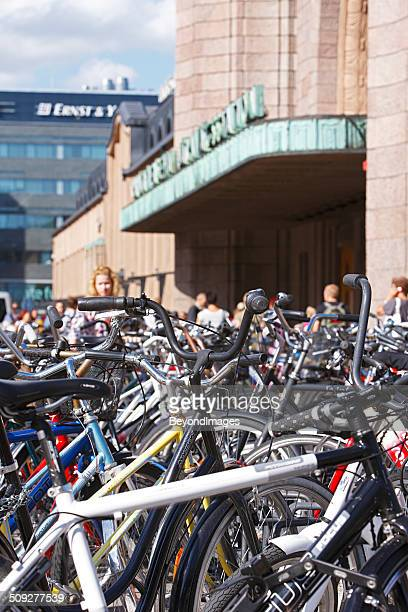 Hundreds of bicycles parked outside central railway station