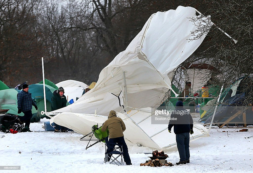 boy scouts practice winter camping survival skills pictures getty