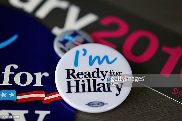 Hundreds of campaign bumper stickers car magnets and buttons are ready to be shipped to Clinton supporters by Ready For Hillary a PAC urging Hillary...