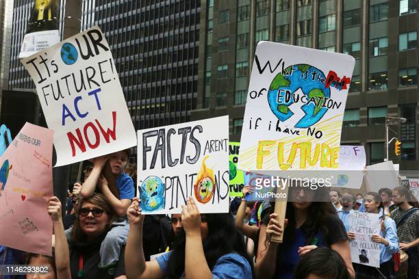 Hundreds of Canadian children and youth took part in a massive protest march against climate change in Toronto Ontario Canada on May 24 2019 Youth...